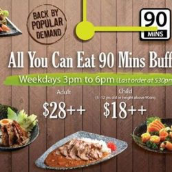 Sakae Sushi: All You Can Eat 90 Mins Buffet on Weekdays + 50% OFF All Desserts