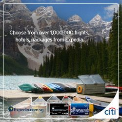 [Citibank ATM] From now till 31 August 2017, book your Expedia holiday with your Citi Credit Card and pay for them with
