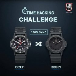 [Luminox] Time hacking is used by military personnel to take note of the current time and synchronizing all watches due to