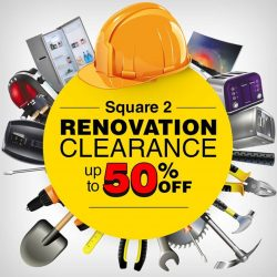 [Harvey Norman] Join us at HarveyNormanSG Square2 for renovation clearance deals up to 50% off!