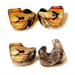 [Stereo] Unique Melody Miracle custom in-ear monitors with zebra wood insert made for our client.