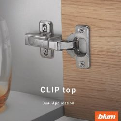 [Blum & Co] Blum CLIP top hinges with or without closing mechanisms can be simply assembled tool-free to any type of furniture