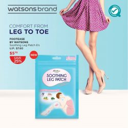 [Watsons Singapore] Been on your feet the whole day?