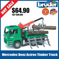 [The Collector] School Holiday Promotion @ The Collector Bruder 01663 MB Actros Timber Truck Timber!