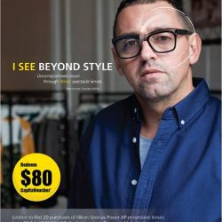 "[Better Vision] Exclusive promotion ""Redeem $80 CapitaVoucher"" with purchase of Nikon Seemax Power AP Progressive Lenses."