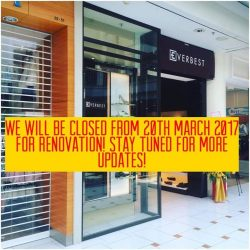 [Everbest] Everbest Shoes Jurong Point outlet 02-52 will be closed from 20th March 2017 for renovation.