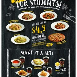 [PastaMania Singapore] Introducing our new student meals!