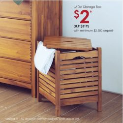 [Scanteak] Grab our Teak LADA Storage Box at just $2 when you make a minimum deposit with us this weekend at