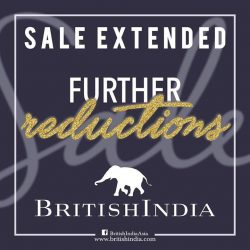 [BritishIndia] We all love sales, and that's why we extended our BritishIndia sales till the 31st.