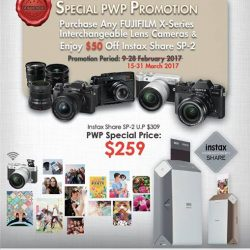 [FUJIFILM] FUJIFILM is pleased to extend our FUJIFILM X-series Interchangeable Lens Camera & Instax Share SP-2 PWP Promotion from 15-