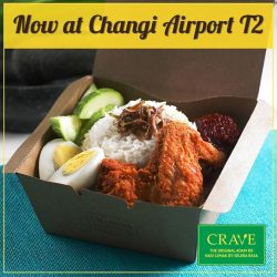 [CRAVE] Crave is now open at Changi Airport Terminal 2 Departure Transit Lounge.