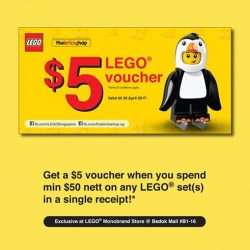 [The Brick Shop] Get a $5 voucher when you spend min $50 nett on any LEGO® set(s) in a single receipt.