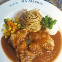 [Ma Maison Restaurant Singapore] Today's Daily Lunch at Ma Maison at Bugis Junction is Chicken Steak with Chaliapin Sauce チキンステーキ・シャリアピン(オニオン)ソースComes with Soup, Mini