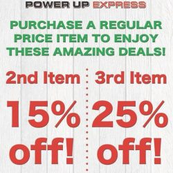 [Power Up Express] Don't miss our ongoing school holiday promotions!
