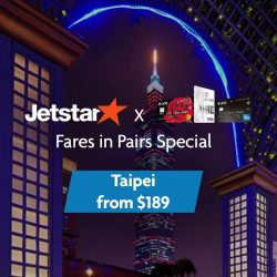 [UOB ATM] Get your passports ready because Jetstar Asia's awesome Fares in Pairs Special is back!