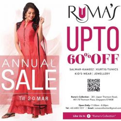 [Ruma's Collection] ANNUAL  SALE  EXTENDED  TILL 20th MARCH !