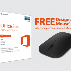 [Courts] Get a FREE Designer Bluetooth Mouse when you purchase Microsoft Office 365 Home (1 year), Microsoft Office Home & Student 2016
