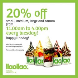 [llaollao Singapore] Introducing llaoday!