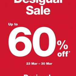 [Isetan] Enjoy up to 60% at our Desigual Sale!
