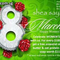 [Shea] Celebrate WOMEN'S* DAY with us.