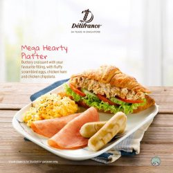 [Delifrance Singapore] The all new Mega Hearty Platter is here.