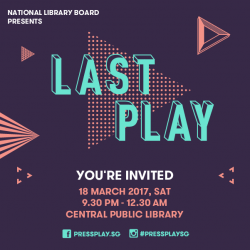 [SEMBAWANG PUBLIC LIBRARY] Join us this Saturday for the closing event of PressPlay, an annual youth arts festival organised by the Arts & Culture