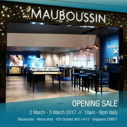 [Mauboussin] SPECIAL SALE for the opening of a new flagship Mauboussin store from 2 to 5 March 2017 with exclusive offers