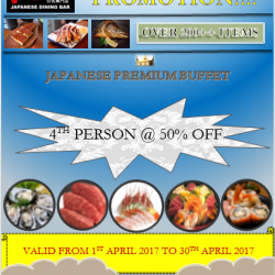 [Kushi Dining Bar] April Promotion on Premium Buffet!