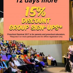 [Dyslexia Association of Singapore] 12 days more to Preschool Seminar: We're offering 15% discount for group sign-ups.