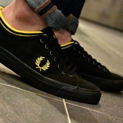 [Fred Perry] The Kendrick Tipped Cuff Canvas shoe, now on 30% off at our Authentic Shop at Cathay Cineleisure Orchard.