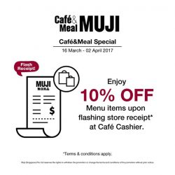 [MUJI Singapore] A perfect time to delight in our unique offerings of sweet treats and scrumptious Hot Deli or Cold Deli items.