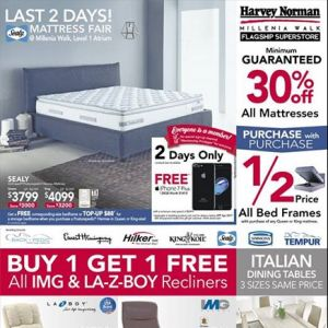 [Harvey Norman] Back by popular demand, this is your last week to enjoy Massive Price Reduction at all HarveyNormanSG stores!