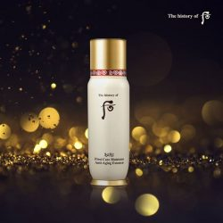 [The History of WHOO] Our Bichup First Care Moisture Anti-Aging (Soon Hwan) Essence promotes blood circulation to create a natural, gorgeous complexion.