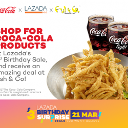 [Fish & Co. Singapore] In conjunction with Lazada's 3rd birthday celebration this week, we partnered with Coca Cola & Lazada (of course!