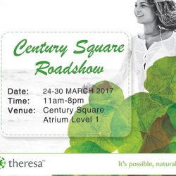 [THERESA BEAUTY] We are having a roadshow this week, at Century Square, Tampines.