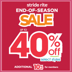 [Stride Rite/Petit Bateau] Stride Rite END-OF-SEASON SALE up to 40% OFF!