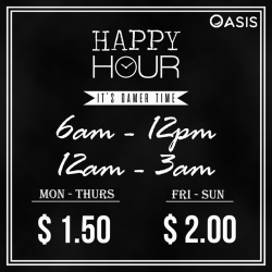 [OASIS Cafe] Do come on down to immense yourselves in our Happy Hour promotion with computer games instead of booze ;)
