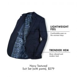 [G2000 Outlet] Lighter weight with a better fit, our new unconstructed suit offers a relaxed, smart casual look.