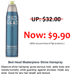 [Top Secret] TIGI Bed Head Masterpiece 300ML, a hairspray with great smell that holds your style without making it sticky and keep