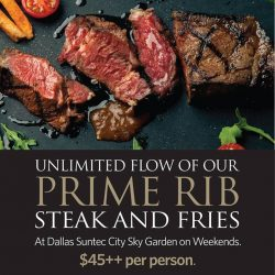 [Dallas Restaurant & Bar] The only thing better than our Signature Prime Rib Steak is our UNLIMITED Prime Rib Steak deal!