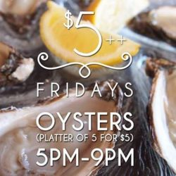 [The Beacon] Friday only we are serving Aigue Marine Special Oyster!