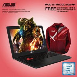 [ASUS] Receive a FREE limited edition ROG Hoodie (worth $119) when you purchase the ASUS ROG Strix GL502VM-FY219T gaming laptop