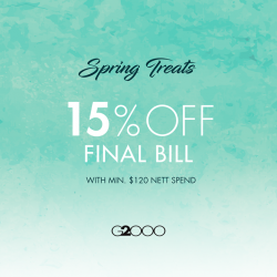 [G2000 Outlet] Time to spring into action for our spring promo!