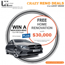 [U-HOME INTERIOR DESIGN] Have you been waiting for our new reno promotion?
