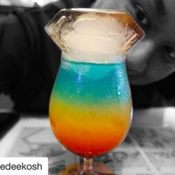 [DC Comics Super Heroes Cafe] A glass of Flying Colour Super Fuel 🌈 to save the day (or the week)!