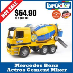 [The Collector] School Holiday Promotion @ The Collector Bruder 01665 MB Actros Cement TruckEnjoy 20% off all regular priced Bruder items.