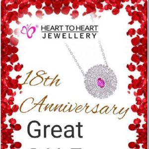 [Heart To Heart Jewellery Singapore] 18 Anniversary Sale start now!