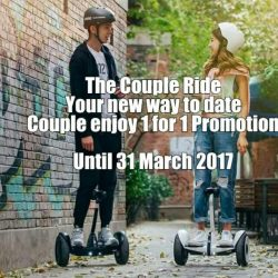 [Rendezvous CWAL] 1 For 1 Mini Segway Ride - S$0Instant 1-or-1 ($30 per hour) by showing this online voucher