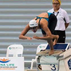 [Arena] Quah Ting Wen set a new national record in the women's 50m freestyle event at the Singapore National Age