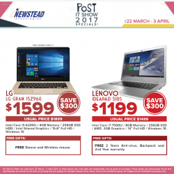 [Newstead Technologies] POST IT Show Deals are still on, save up to $300 plus attractive gifts for the selected notebooks!